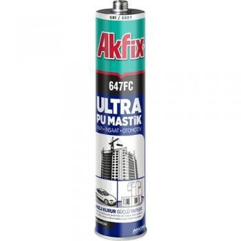 Akfix 647FC Ultra Pu Mastik Silikon Gri 280 ML Yapı Otomotiv