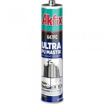 Akfix 647FC Ultra Pu Mastik Silikon Oksit Kırmızı 280 ML Yapı Otomotiv