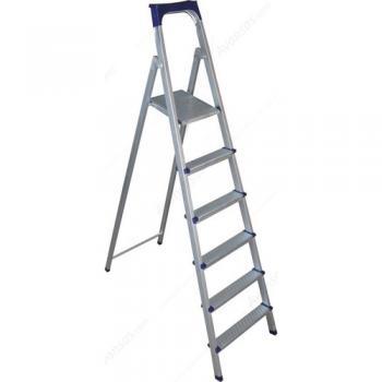As Kutlu Profil Merdiven 6 Basamaklı 6+1 Alüminyum Merdiven