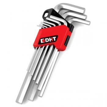 DHT 9'lu Allen Anahtar Set Uzun Nikel Kaplama D04202109